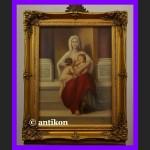 Miłosierdzie Madonna piękny duży obraz złocona rama