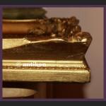 Sanna wspaniały duży obraz złocona rama