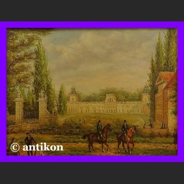 Obraz olejny Pałac w Wilanowie piękny warszawski pejzaż
