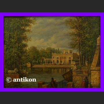 Obraz olejny Pałac w Łazienkach znakomity olej