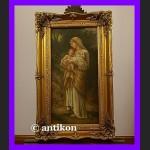 Madonna z Dzieciątkiem i owieczką złocona rama
