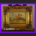 Polowanie klasyczny obraz złocona rama