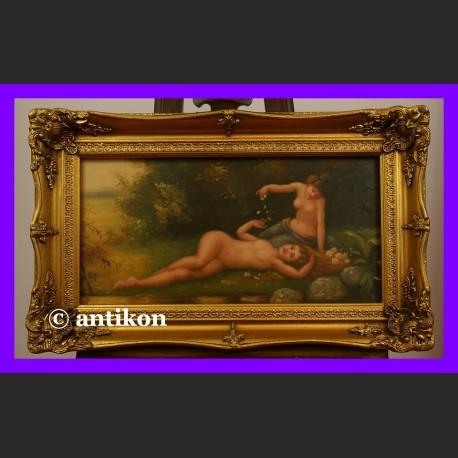 Eteryczne nimfy świetny obraz złocona rama