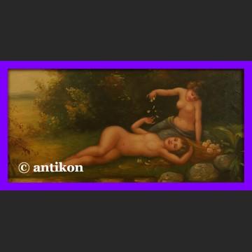 Obraz olejny Eteryczne nimfy w złoconej ramie