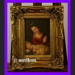 Cudna Madonna z Dzieciątkiem obraz złocona rama