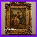Madonna z książką świetny obraz w złoconej ramie