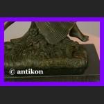 Tańcząca nimfa śliczny akt syg. rzeźba z brązu