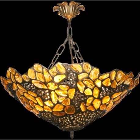 Świetna wisząca lampa piękny bursztyn plafon