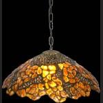 Bursztynowa lampa wisząca wspaniały prawdziwy bursztyn