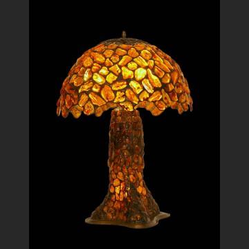 Ogromna piękna lampa cała z bursztynu ciężka