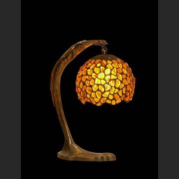 Zachwycająca lampka z orłem śliczny bursztyn