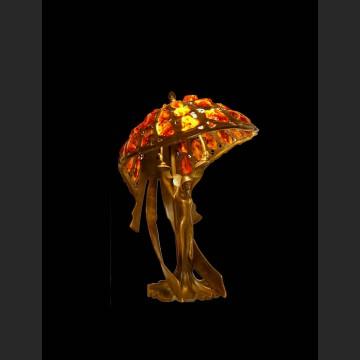 Niezwykła lampa z prawdziwym bursztynem