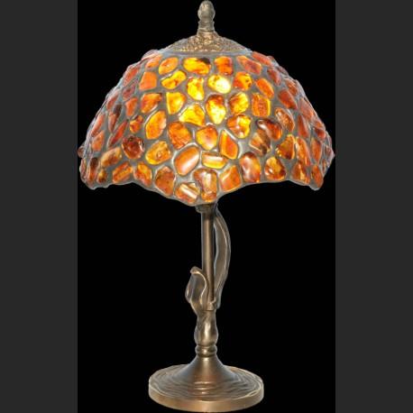 Prześliczna lampa z naturalnego bursztynu