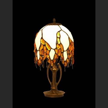 Rewelacyjna lampa z bursztnem piękny design