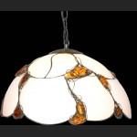 Piękna wisząca lampa z naturalnym bałtyckim burszynem