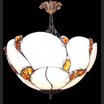 Wspaniały plafon duża wisząca lampa z bursztynem