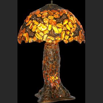 Znakomita ogromna lampa mnóstwo bursztynu ciężka