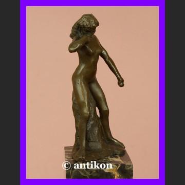 Wspaniały akt kobiety brąz rzeźba A. Rodin