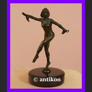 Śliczna tancerka z brązu rzeźba Art Deco