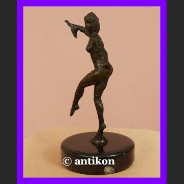 Prześliczna tancerka brąz rzeźba Art Deco