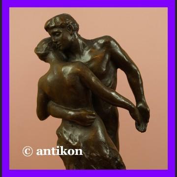 Kochankowie Claudel rzeźba Zapamiętani w walcu Walc przecudny brąz Francja