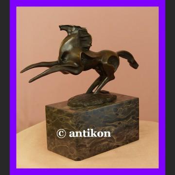 Rzeźba z brązu piękny koń modernistyczny rumak z brązu
