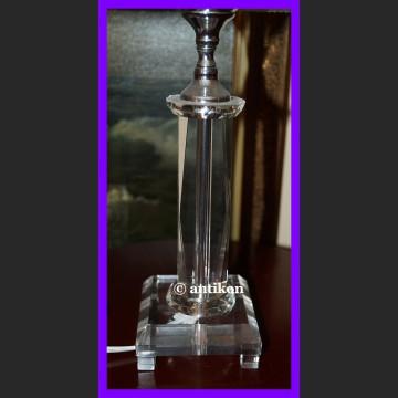 Lampa do salonu kryształowa noga z abażurem