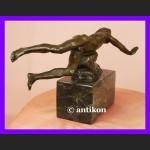 Pływak pływanie świetna rzeźba syg. brąz Francja