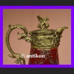 Przepiękny dzban ze smokami do wina wody brąz