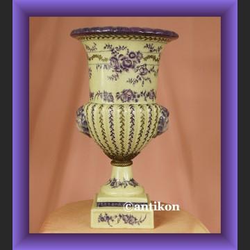 Żardiniera duży pastelowy wazon donica z lwami