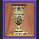 Prześliczny pastelowy duży wazon z lwami