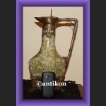 Świetny miodowy wazon z łabędziami