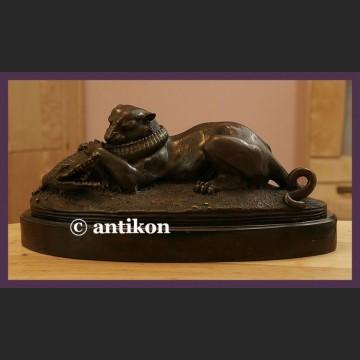 Świetna duża rzeźba lew i krokodyl prawdziwy brąz aligator