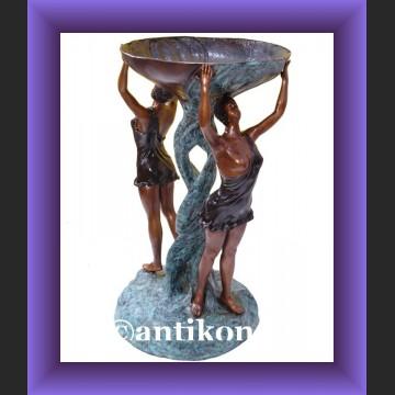 Obsceniczny akt piękna naga kobieta duża rzeźba brąz i marmur
