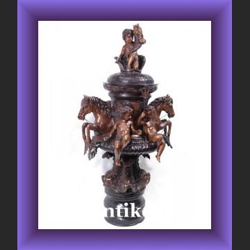 Ogromna figuralna fontanna z brązu do ogrodu