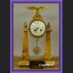 Zegar kominkowy empire piękny stary francuski marmurowy