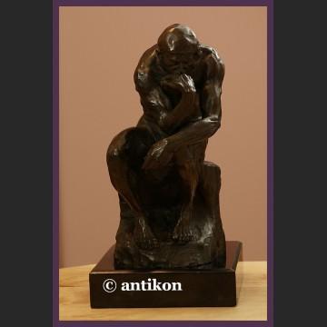 Słynna rzeźba prawdziwy brąz A. Rodin Myśliciel duża figura