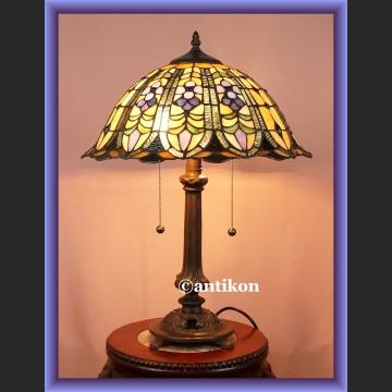 Piękna salonowa witrażowa lampa Tiffany duża
