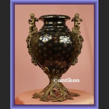 Zjawiskowy porcelanowy wazon z amorkami piękna waza