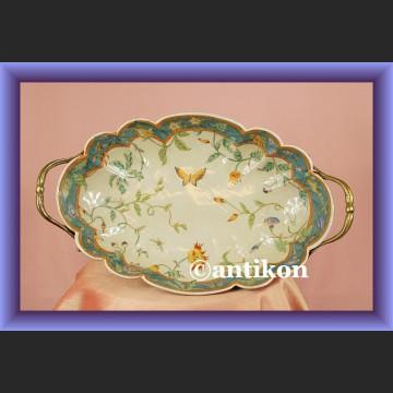 Zjawiskowa secesyjna patera porcelanowa misa z brązem