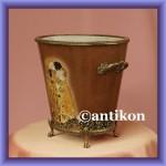 Cudna duża doniczka porcelanowa donica z motywem Klimta