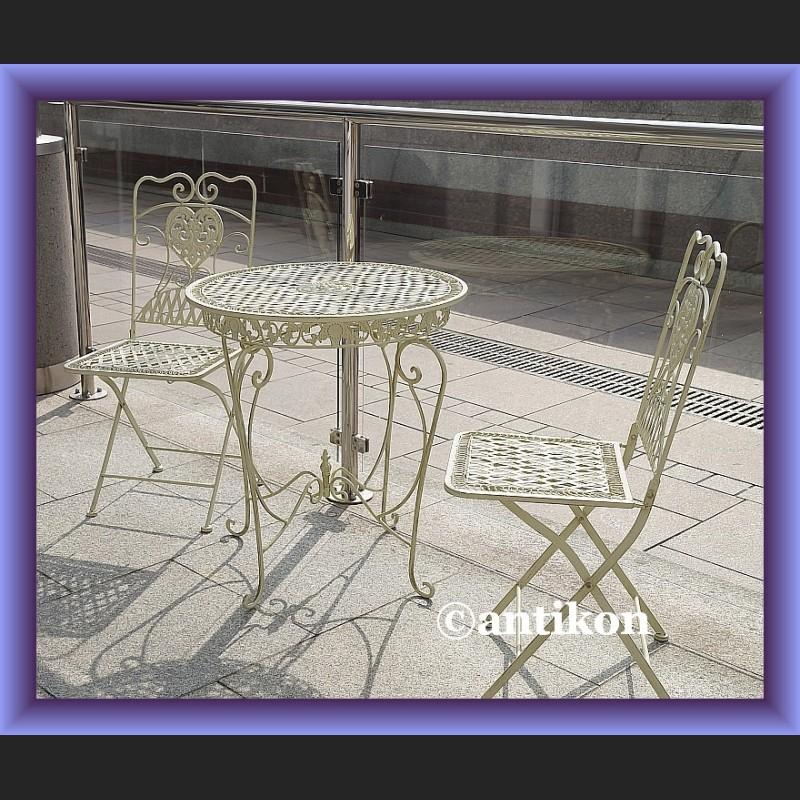 Prowansalskie Meble Ogrodowe Komplet Stol I 2 Krzesla Sliczne