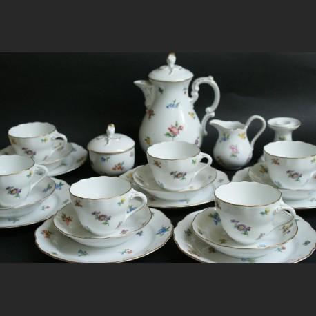 Serwis kawowy jak Miśnia na 6 osób Hutschenreuther grupa Rosenthal serwis herbaciany