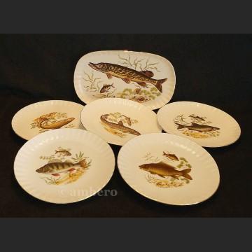 Serwis do ryb patera i talerze Retsch Wunsiedel Bavaria wspaniał