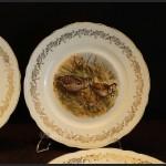 Serwis do dziczyzny Limoges 6 talerzy obiadowych francuska porcelana myślistwo