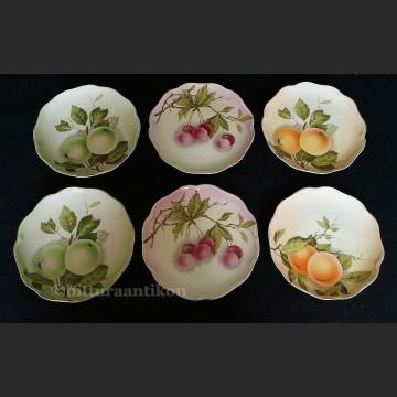 Porcelana Rosenthal komplet 6 talerzy z owocami Madeleine