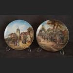 Talerze kolekcjonerskie Romantyczne osady 6 sztuk kolekcja