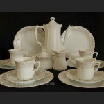 Serwis kawowy na 6 osób Hutschenreuther Tirschenreuth model Baronesse Jacqueline niezwykle elegancki