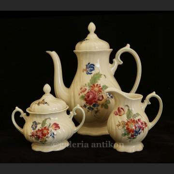 Garnitur herbaciany Rosenthal lub kawowy wspaniała stara porcelana syg. Thomas Ivory