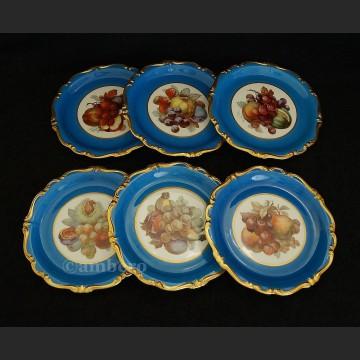 Zachwycający unikatowy komplet talerzy z owocami Rosenthal Pompadour ok. 1928 r.